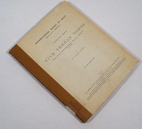 3023: de Garis Davies FIVE THEBAN TOMBS 1913