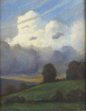 """Albert Pütz, """"aufziehendes Gewitter"""""""