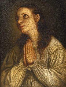 Betende Junge Frau