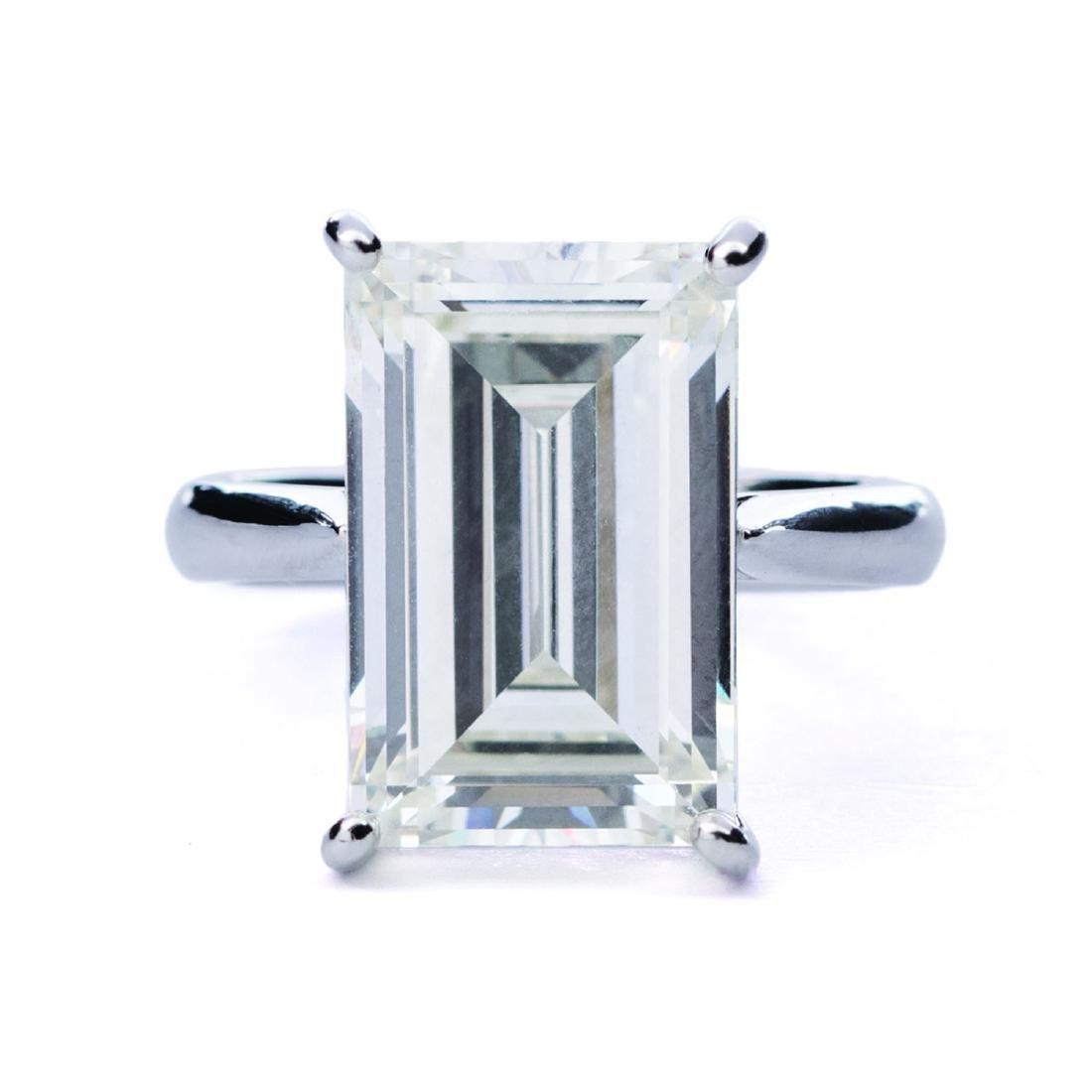 An impressive GIA-certified 9.33 ct emerald cut diamond