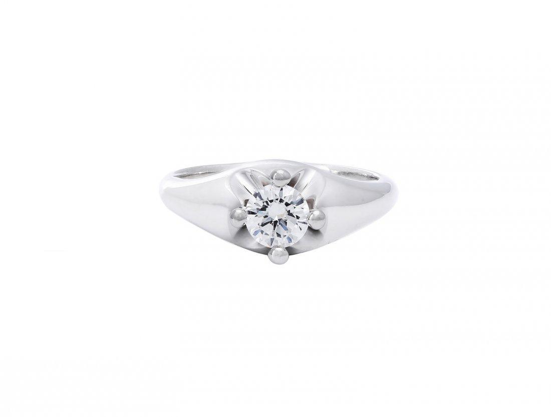 BVLGARI - A diamond solitaire ring