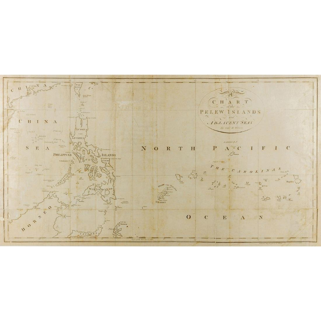 A chart of the Pelew Islands and adjacent seas London