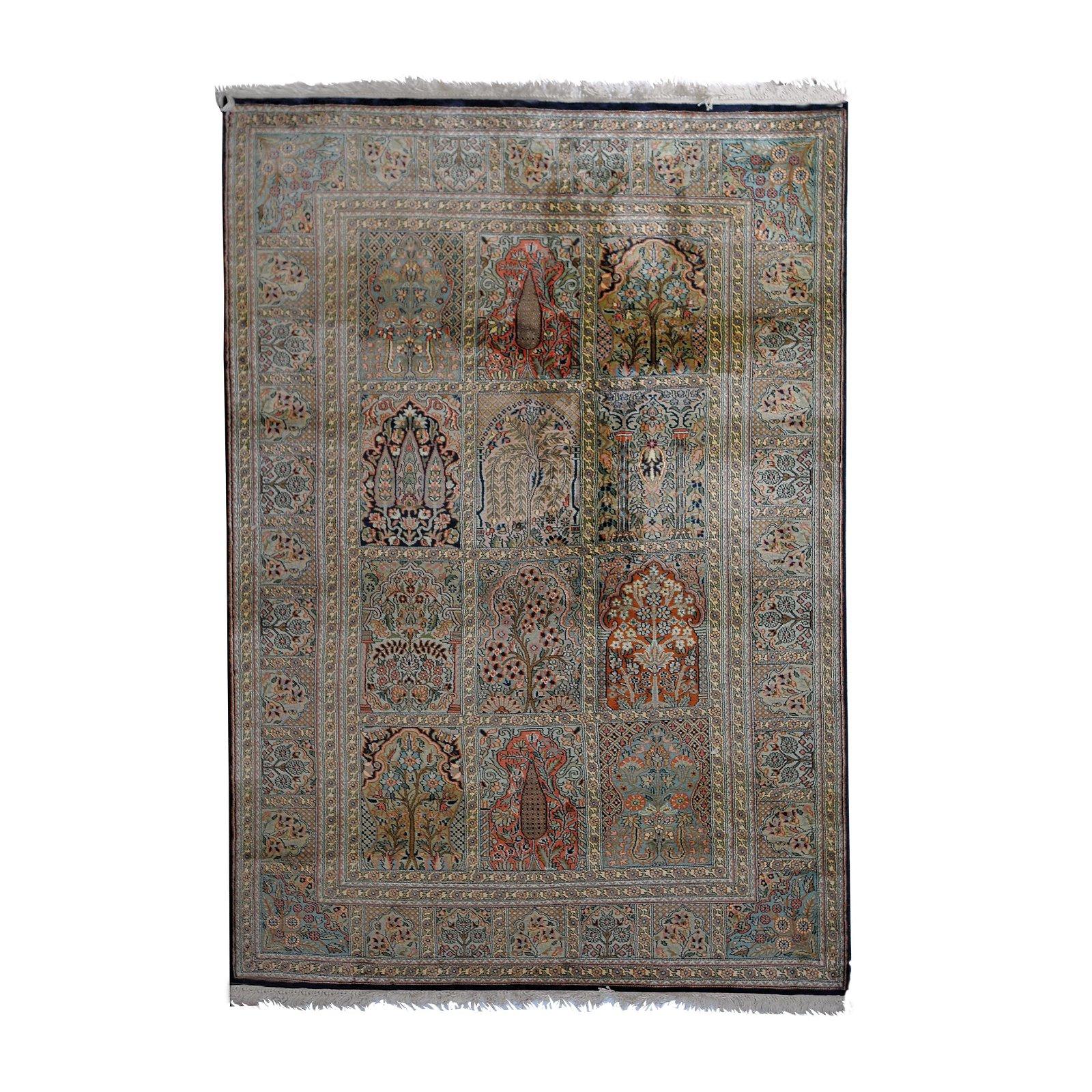 A Kashmir Qum silk rug