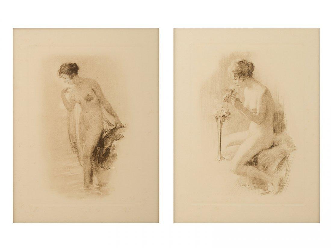 FERNANDO AMORSOLO -A lot of two lithographs of female