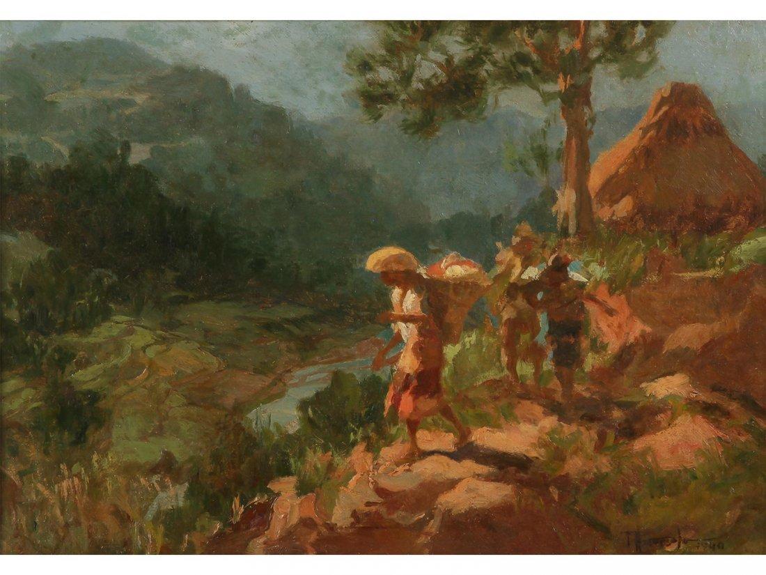 FERNANDO AMORSOLO -Landscape with Igorots