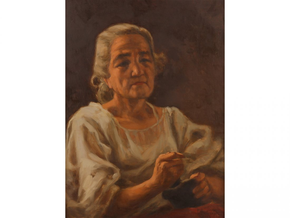 FERNANDO AMORSOLO -Untitled (Woman in the Kitchen)