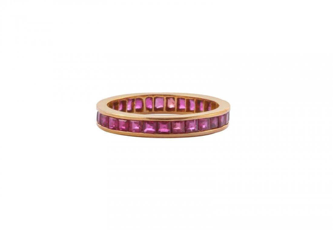 A ruby eternity ring