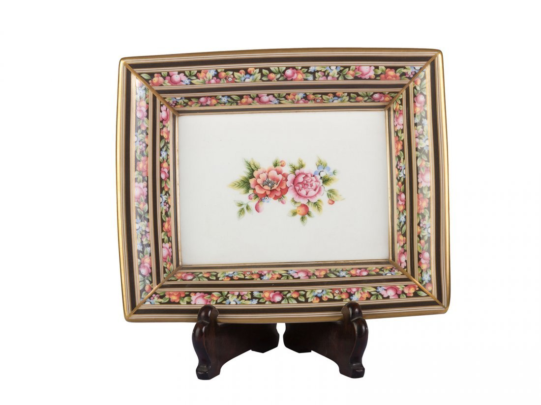 Wedgwood -A white floral candy dish