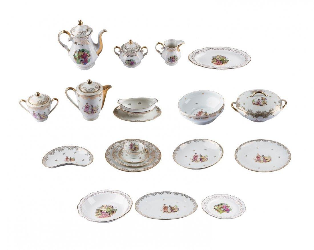 "Porcelain de Limoges -A 121-piece ""Nankin"" fine bone"