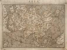 Giovanni Botero  Asia Map Woodblock engraving