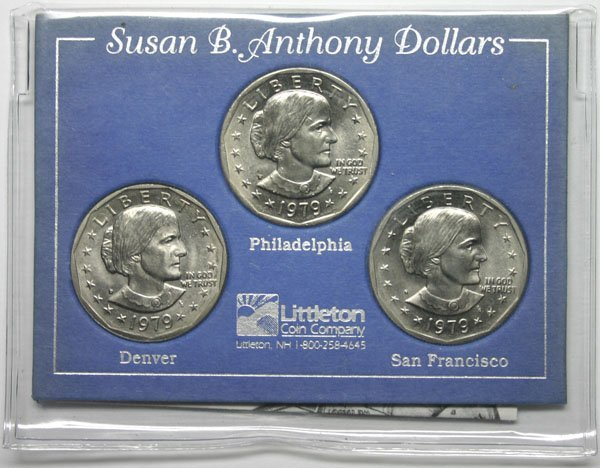 5006: 1979 SUSAB.B ANTHONY  DOLLOR  COINS .