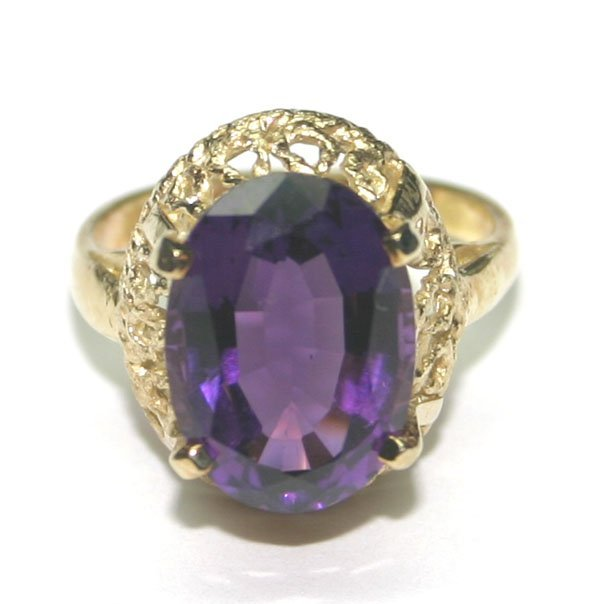 3000: 5.CT NATURAL AMETHYST  SILVER RING.