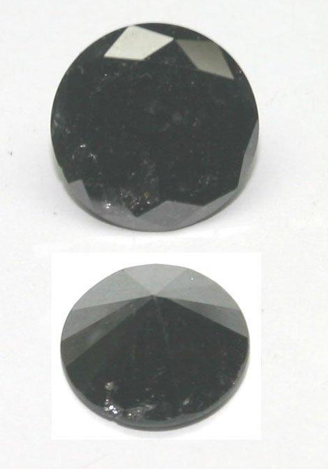 3503: 4.17 CT NATURAL BLACK DIAMOND.