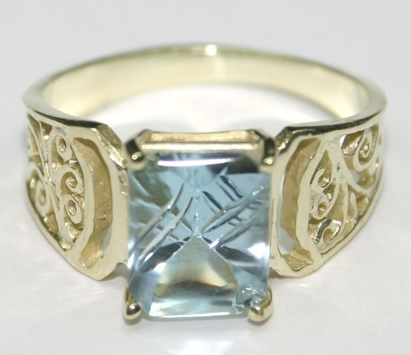 5001: 2.30 CT NATURAL B,TOPAZ  SILVER RING.