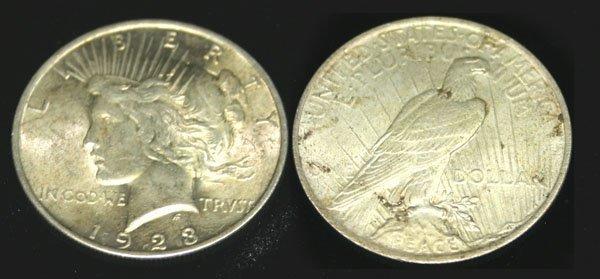5544: AMERICAN  1923 SILVER DOLLAR COIN .
