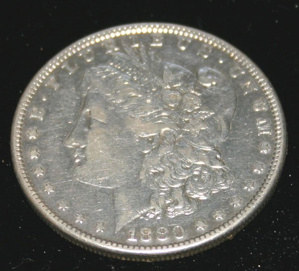 2208: US  SILVER  DOLLAR COIN  1880 .
