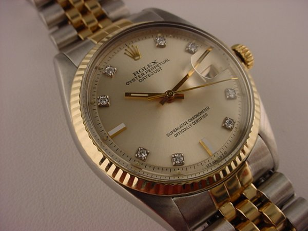 5444: Rolex Datejust Mens 18k Yellow Gold & Stainless W