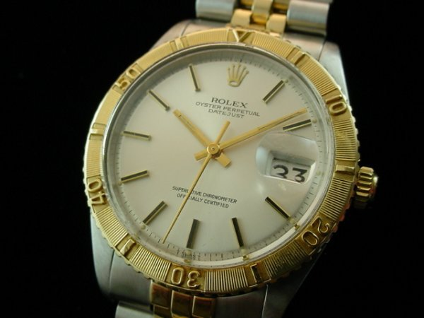5670: Mens ROLEX 14K/Steel Datejust 1625 Thunderbird