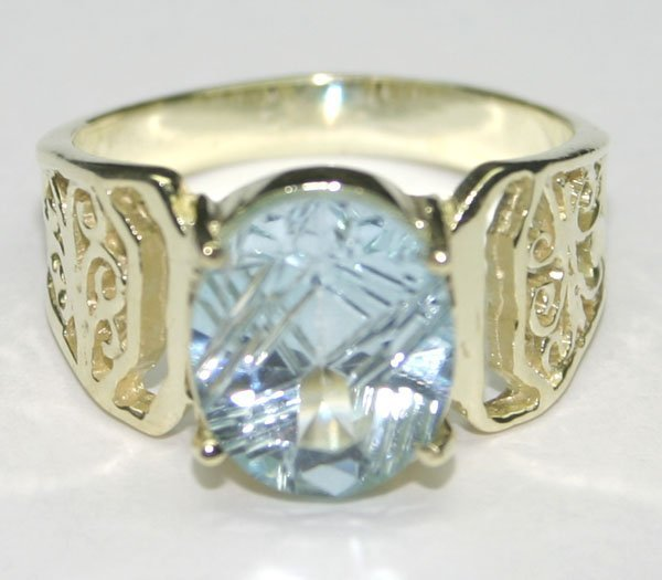4008: 4.CT NATURAL B,TOPAZ  SILVER RING.