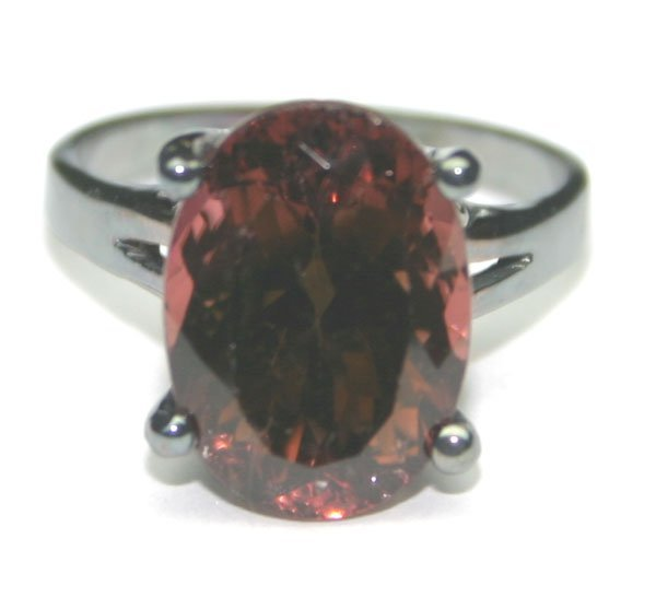 2011: 4.50 CT NATURAL TOURMALINE SILVER RING.