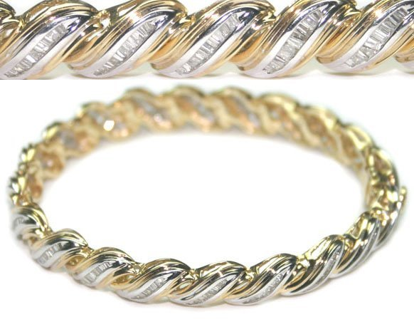 3017: 4, CT DIAMOND 22 GR 14 KT GOLD BRACELET.