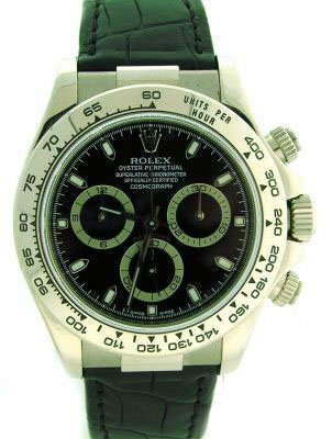 3225: ROLEX DAYTONA 18K WHITE GOLD .