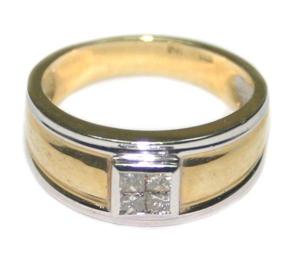 2005: 1,CT DIAMOND  2-TONE  14KT GOLD MAN'S RING.