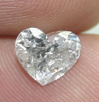 4023: 1.58 CT HEART  SHAPE  DIAMOND  SI3 I COLOR .