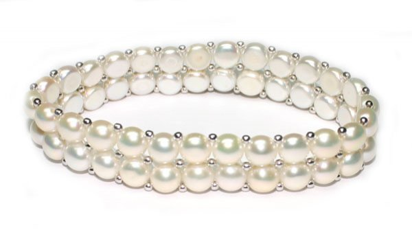 5020: NATURAL  FRESH WATER  PEARL BRACELET.