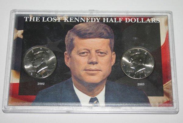 5607: THE LOST KENNEDY HALF DOLLARS  2002-2003 .