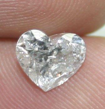 4023: 1.58 CT HEART  SHAPE  DIAMOND  SI3 I COLOR .