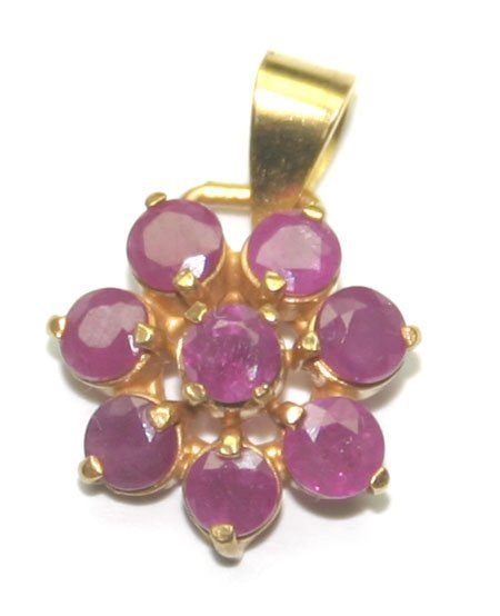 5021: 1,50 CT NATURAL RUBY 14KT  GOLD  PENDANT.
