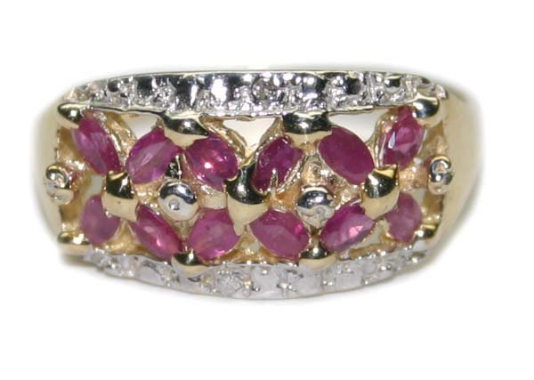 1017: 1.CT RUBY & DIA 3.20 GR 14K GOLD RING .