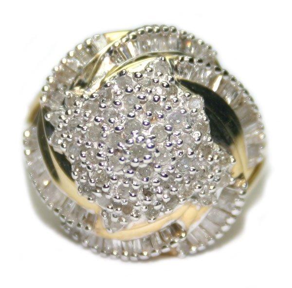 1591: 2.CT DIAMOND 7.20 GR 10KT GOLD RING.