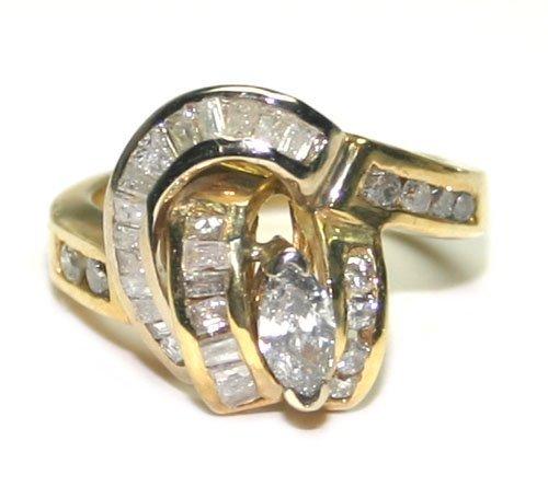 5004: 2,CT DIAMOND 14KT GOLD RING 9.20 GR .