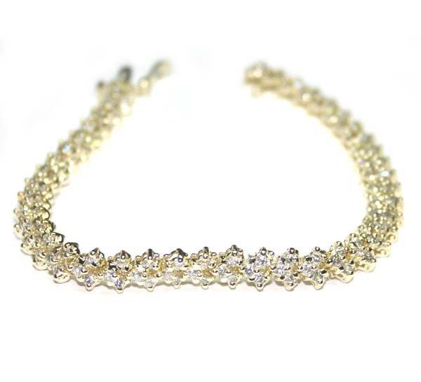 1020: 3,CT DIAMOND 14KT GOLD BRACELET 14GR.