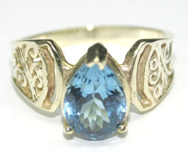 5013: 2.50 CT NATURAL B,TOPAZ  SILVER RING.