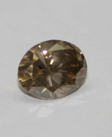 1014: GENUINE 1.15 CT DIAMOND FANCY BROWN SI2 .
