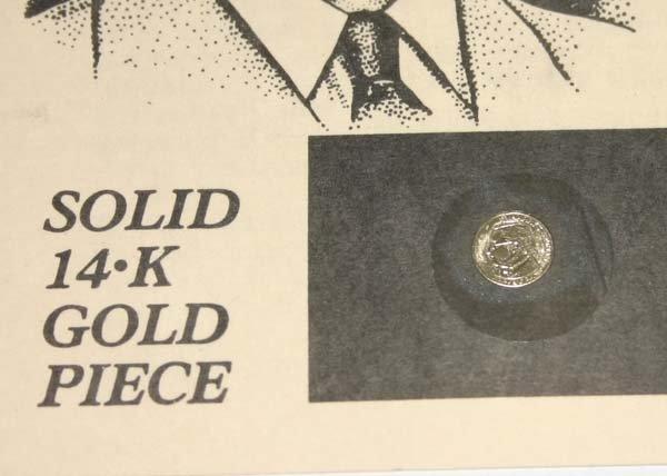 5824: SOLID 14.K GOLD PIECE (Harry S.Truman ) commemora - 2