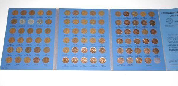 5028: LINCOLN CENT COLLECTION 1941 to  1974 .