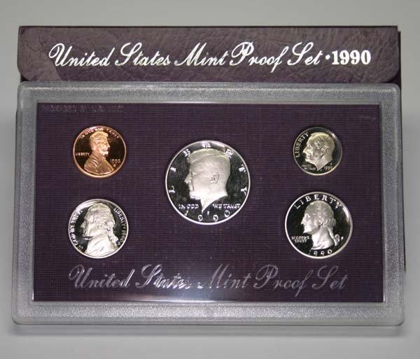 19: UNITED STATES MINT PRROF SET 1990