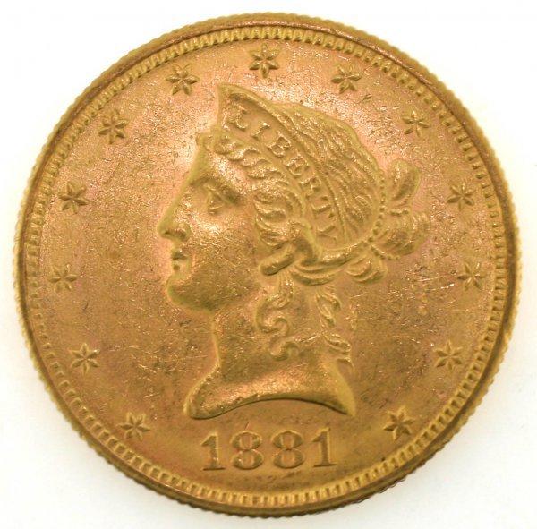1572: 1881-S Liberty $10 Almost Uncorrelated