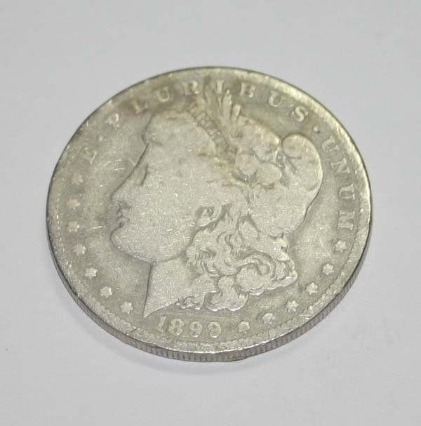 USA MORGAN SILVER DOLLAR COIN (YEAR 1899) .