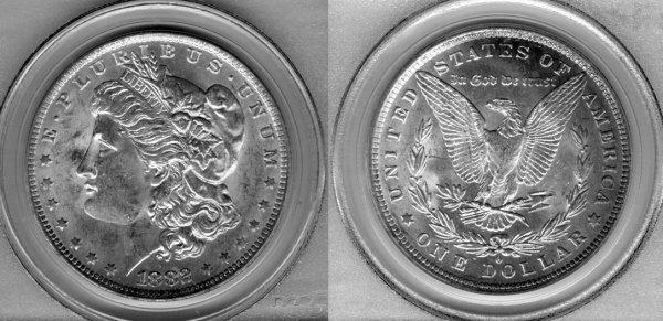 1010: 1882 MORGAN SILVER DOLLAR