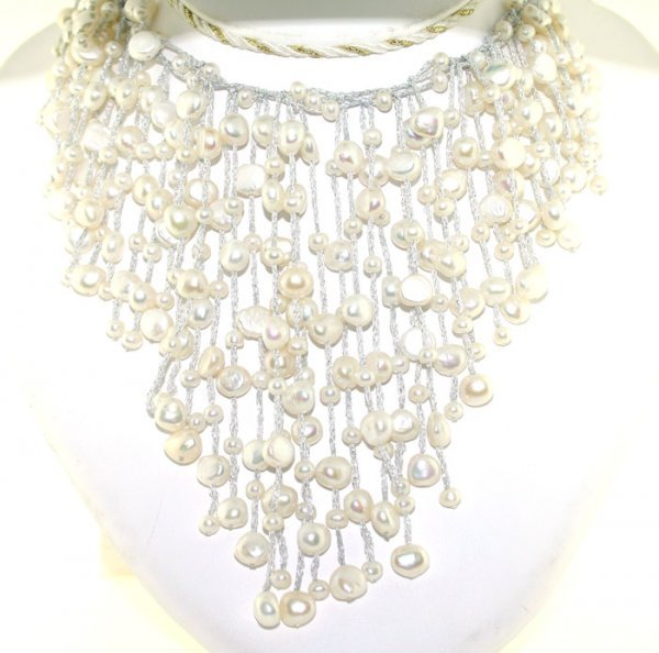 1012: 3-7mm FRESH WATER PEARL NECKLACE 14K