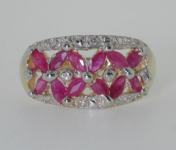 1017: 2.5 CT DIA AND RUBY 14K 3GR
