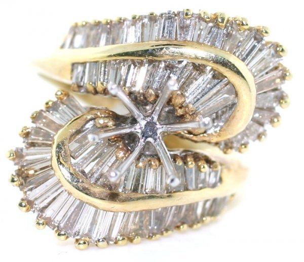 1232: 3 CT BAGUETTE DIAMOND 14K RING