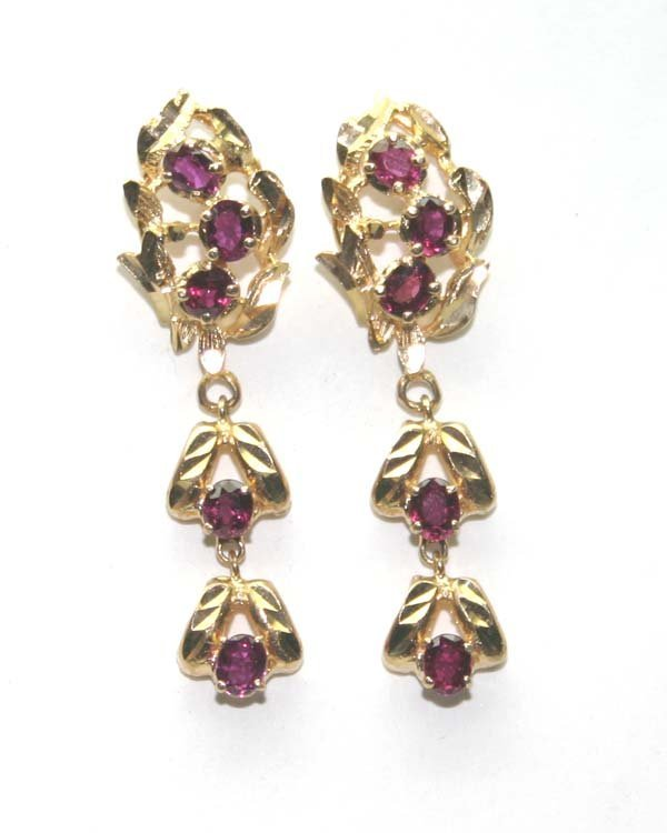 2012: 2,CT TOURMALINE 14K GOLD EARRINGS 5.50 GR .