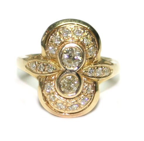 1185: 1,CT DIAMOND 7.30 GR 14KT  GOLD RING .