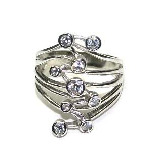 1,CT LAB W,SAPPHIRE .925 SILVER RING .
